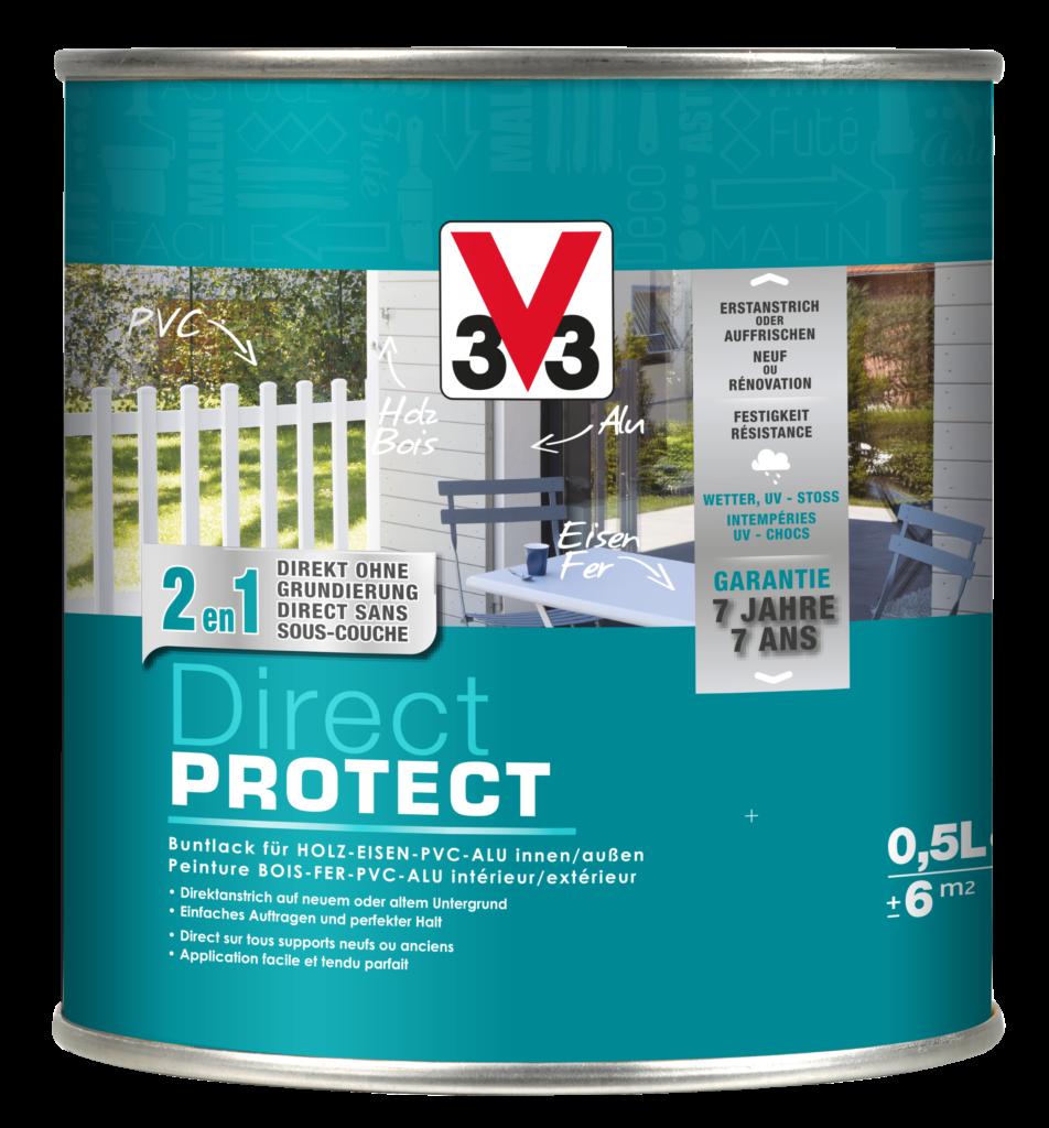 La peinture Direct Protect V33 multi-matériaux s'applique directement sur tous les supports, neufs ou anciens.
